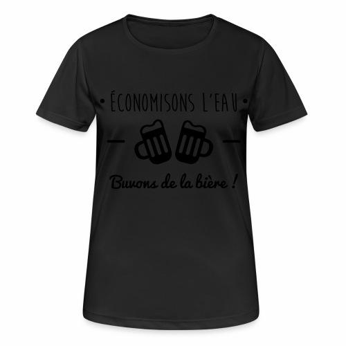 Economisons l'eau, buvons de la bière !  - T-shirt respirant Femme