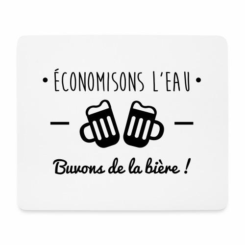 Economisons l'eau, buvons de la bière !  - Tapis de souris (format paysage)