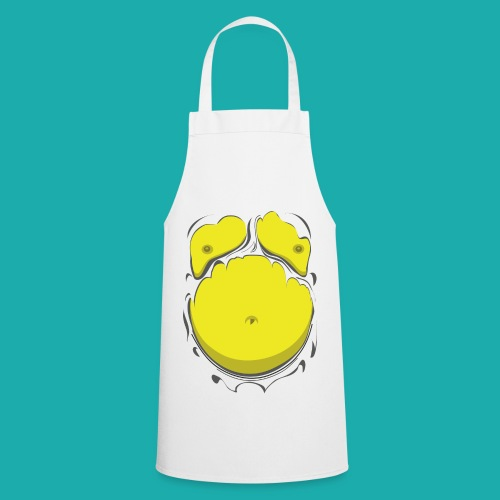 Comic Fat Belly Yellow, beer gut, beer belly, chest t-shirt - Cooking Apron