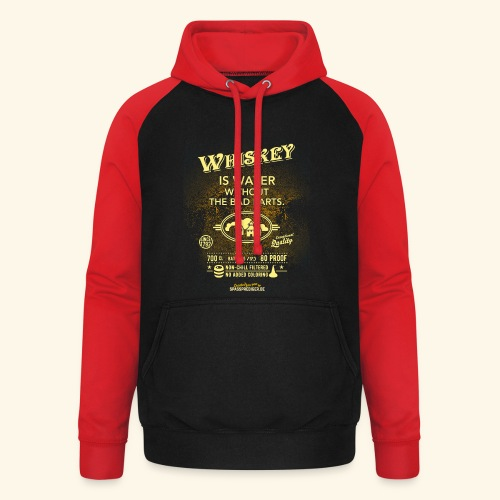 Whiskey Shirt Whiskey is water without the bad parts - Unisex Baseball Hoodie