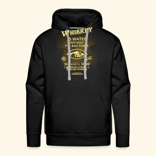 Whiskey Shirt Whiskey is water without the bad parts - Männer Premium Hoodie