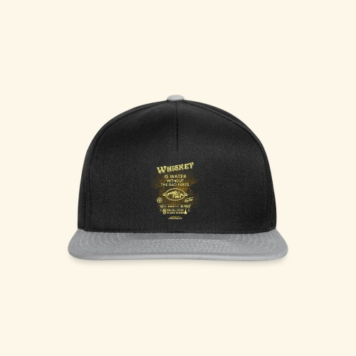 Shirt Whiskey is water without the bad parts - Snapback Cap