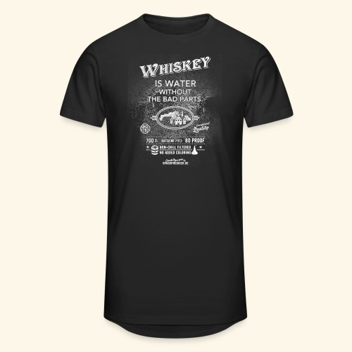 Shirt Whiskey is water without the bad parts - Männer Urban Longshirt