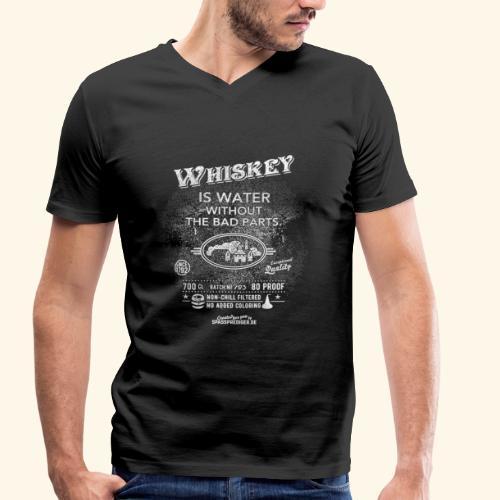 Shirt Whiskey is water without the bad parts - Männer Bio-T-Shirt mit V-Ausschnitt von Stanley & Stella