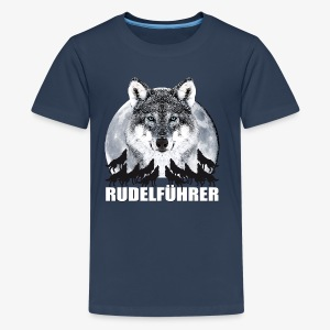 Rudelführer Wolf Vollmond Party Team Kinder LangarmShirt - Teenager Premium T-Shirt