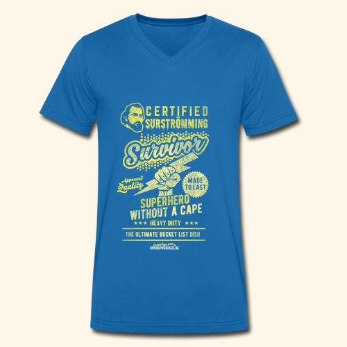 Certified Surstromming Survivor - Männer Bio-T-Shirt mit V-Ausschnitt von Stanley & Stella