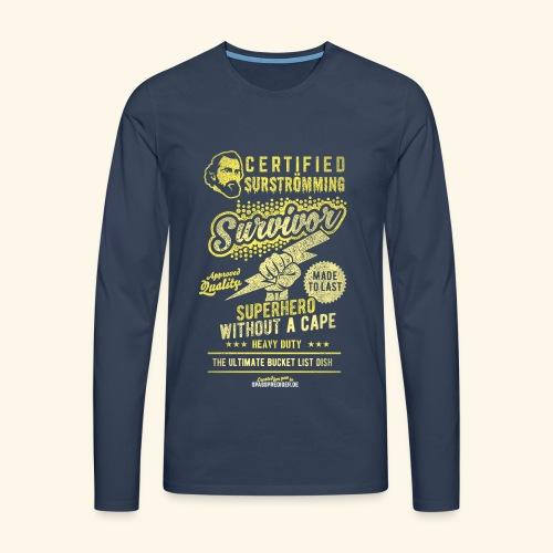 Certified Surstromming Survivor - Männer Premium Langarmshirt