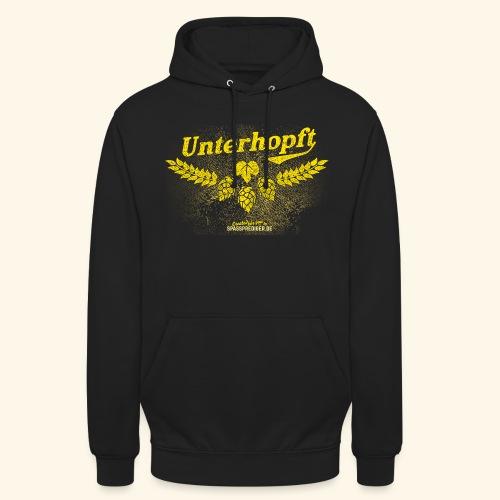 Unterhopft - das Original, distressed - Unisex Hoodie