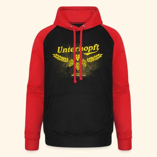 Unterhopft - das Original, distressed - Unisex Baseball Hoodie