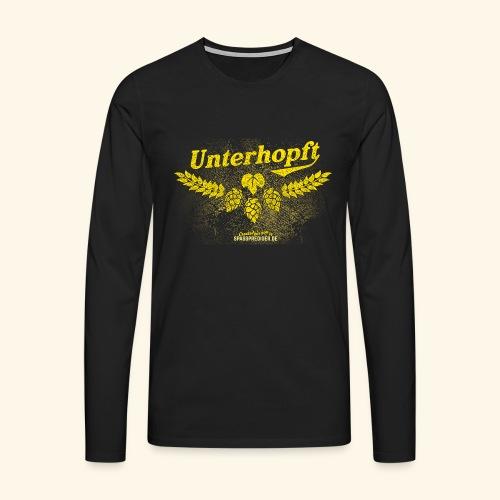 Unterhopft - das Original, distressed - Männer Premium Langarmshirt