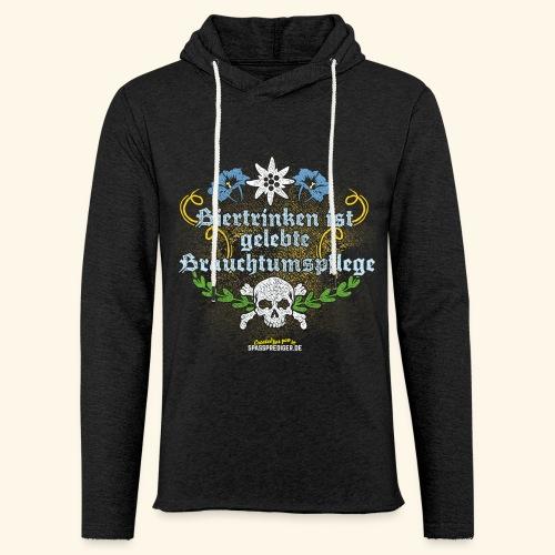 Biertrinken ist gelebte Bauchtumspflege - Leichtes Kapuzensweatshirt Unisex