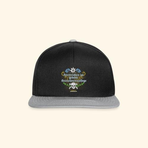 Biertrinken ist gelebte Bauchtumspflege - Snapback Cap