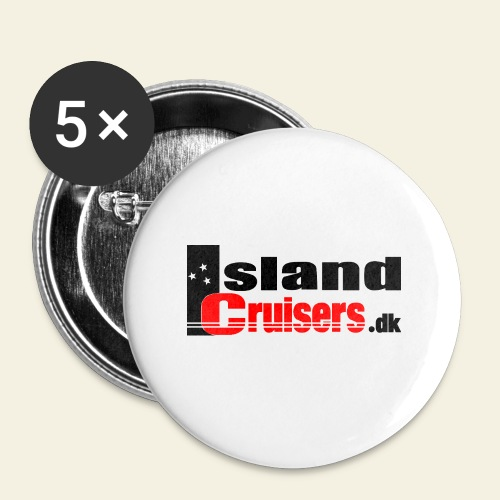 Island Cruisers black - Buttons/Badges stor, 56 mm