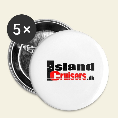 Island Cruisers black - Buttons/Badges mellemstor, 32 mm