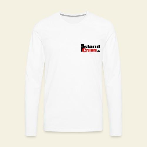 Island Cruisers black - Herre premium T-shirt med lange ærmer
