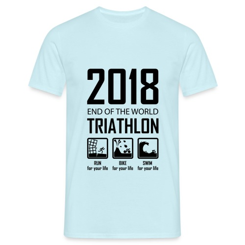 2018 Triathlon - Mannen T-shirt