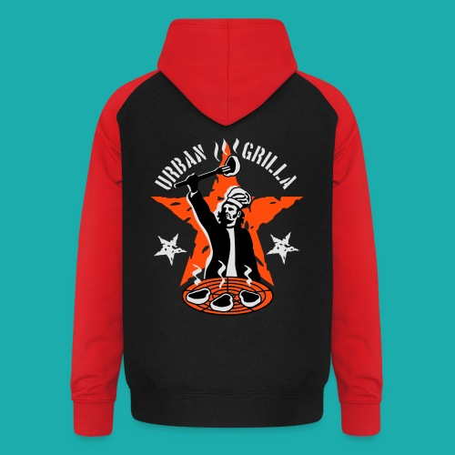 Urban Grilla, barbecue chef / cook - Unisex Baseball Hoodie