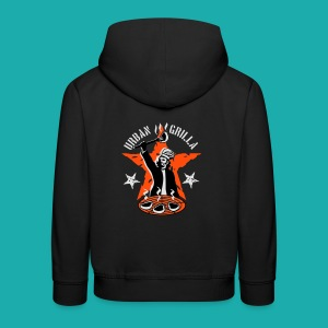 Urban Grilla, barbecue chef / cook - Kids' Premium Hoodie
