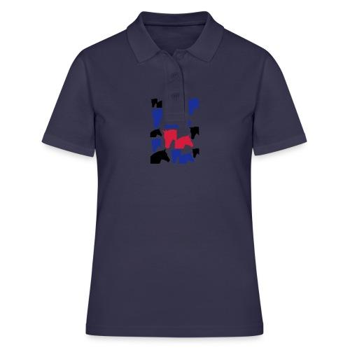 Pferdekopf-Collage-2 - Frauen Polo Shirt