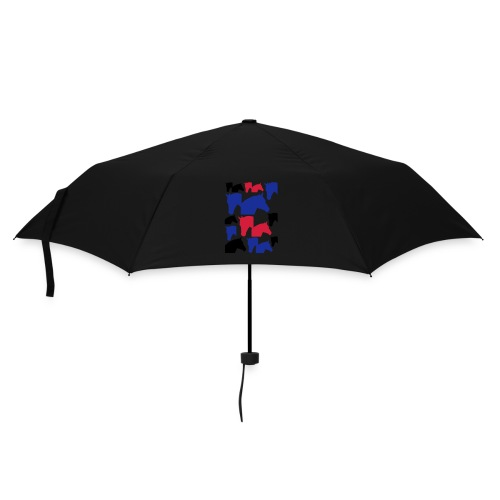 Pferdekopf-Collage-2 - Regenschirm (klein)