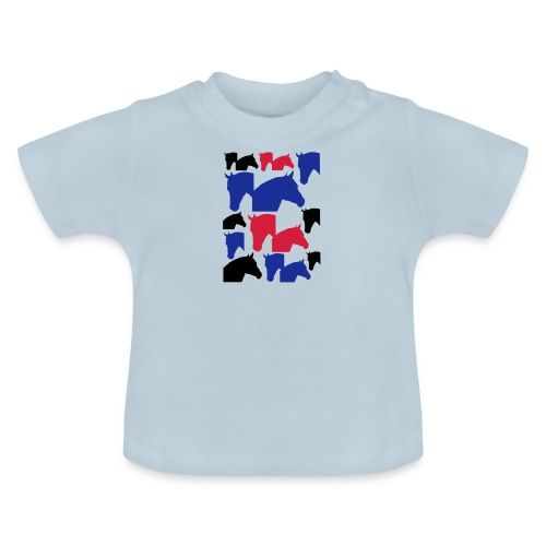 Pferdekopf-Collage-2 - Baby T-Shirt