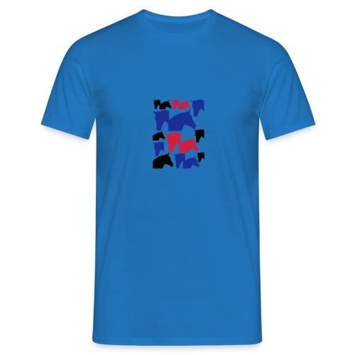 Pferdekopf-Collage-2 - Männer T-Shirt