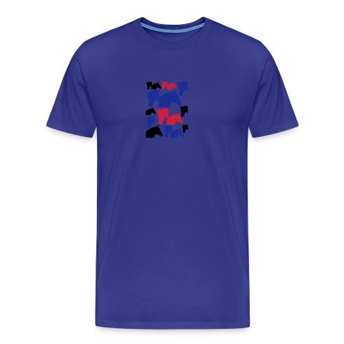 Pferdekopf-Collage-2 - Männer Premium T-Shirt