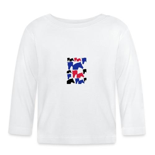 Pferdekopf-Collage-2 - Baby Langarmshirt