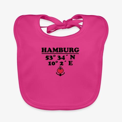 HAMBURG KoordinatenLängengrad Breitengrad Baby Body - Baby Bio-Lätzchen
