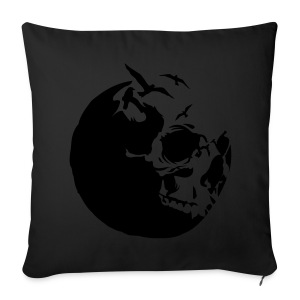 Moon and skull men's T-shirt - Sofa pillow cover 44 x 44 cm