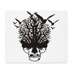 Creepy birds and skull girls T-shirt - Mouse Pad (horizontal)