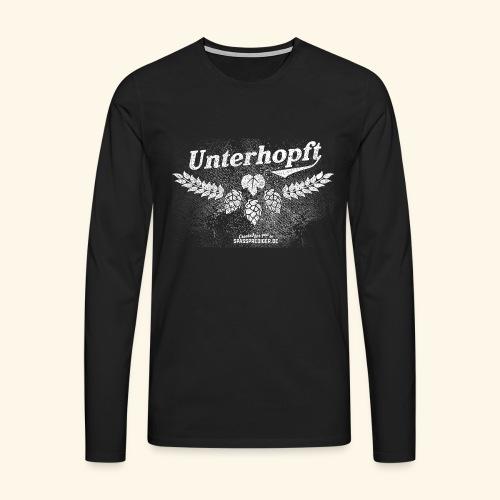 Unterhopft T-Shirt, distressed - Männer Premium Langarmshirt