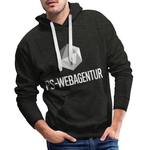 PS-WebAgentur white - Männer Premium Hoodie
