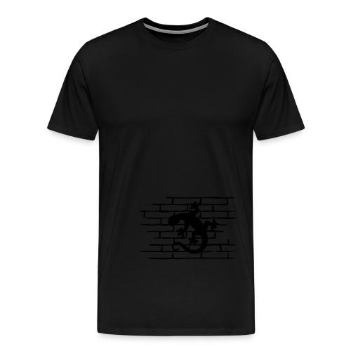 Gecko on the Wall - Männer Premium T-Shirt