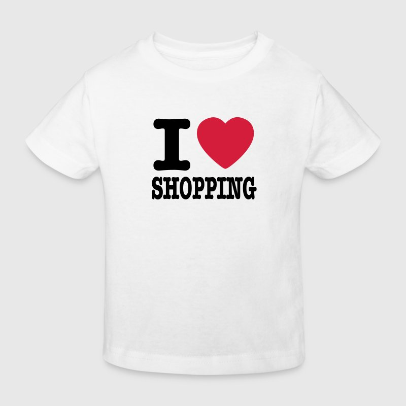 White i love shopping Kids' Shirts - Kids' Organic T-shirt