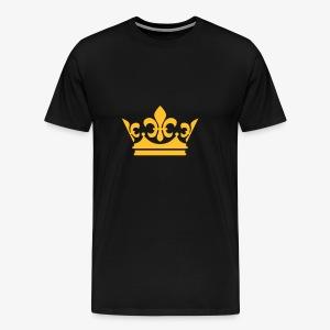 Krone Crown Gold Party Hoodie Pullover alle Farben - Männer Premium T-Shirt