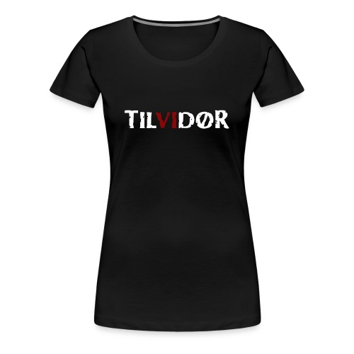 TILVIDØR Basic Tee 2 color logo - Dame premium T-shirt