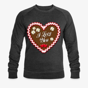 I Love You Lebkuchenherz Edelweiss Männer T-Shirt - Männer Bio-Sweatshirt von Stanley & Stella