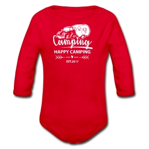 Happy Camping EST.2017 - TEEN T-Shirt - Baby Bio-Langarm-Body