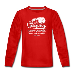 Happy Camping EST.2017 - TEEN T-Shirt - Teenager Premium Langarmshirt