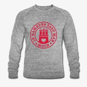 In HAMBURG sagt man MOIN Wappen T-Shirt Männer - Männer Bio-Sweatshirt von Stanley & Stella