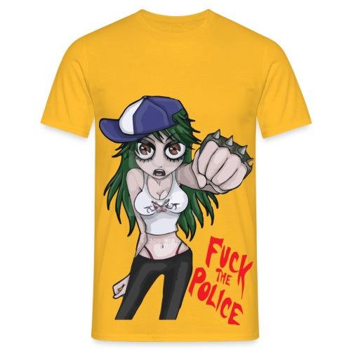 Fuck The Police Girl - Men's T-Shirt