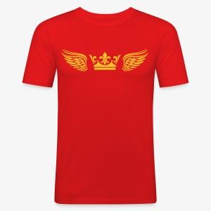 Krone Flügel Crown Wings Engelsflügel T-Shirt Männer 29 - Männer Slim Fit T-Shirt