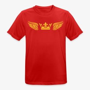 Krone Flügel Crown Wings Engelsflügel T-Shirt Männer 29 - Männer T-Shirt atmungsaktiv