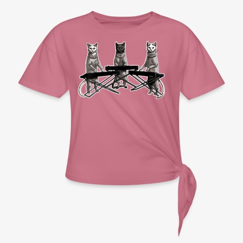 Cat Band - Knotted T-Shirt