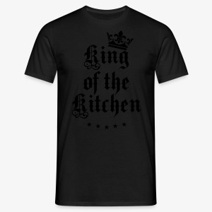 King of the Kitchen cook Koch Krone Crown Schürze 05 - Männer T-Shirt