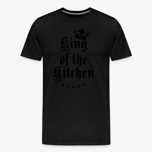King of the Kitchen cook Koch Krone Crown Schürze 05 - Männer Premium T-Shirt