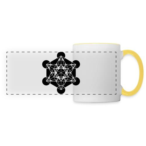 Tasse_double design_Merkabah violet - Mug panoramique contrasté et blanc