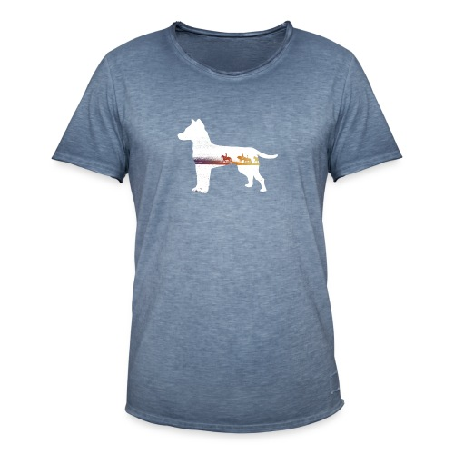 Hund-Ausritt - Männer Vintage T-Shirt