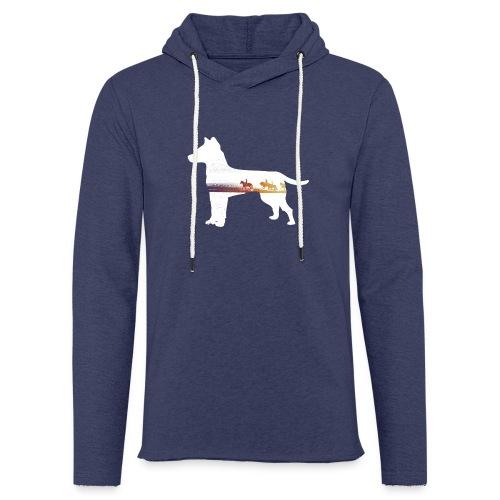 Hund-Ausritt - Leichtes Kapuzensweatshirt Unisex